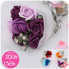 7pcs Bath Soap Rose Flower Bouquet Handmade Korea Style Mothers Day for mom /Wedding/Birthday Gifts For Family Friend