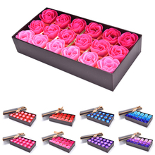 Hot Sale Fashion 18Pcs Body Bath Soap Rose Petal Whitening Soap Wedding Decoration Party Gift New Arrival(China)