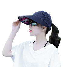 Women Summer Sun Hats Sun Visor caps Women's caps With Big Heads Beach Gorras plana outdoors Gorras mujer Casquette for Female(China)