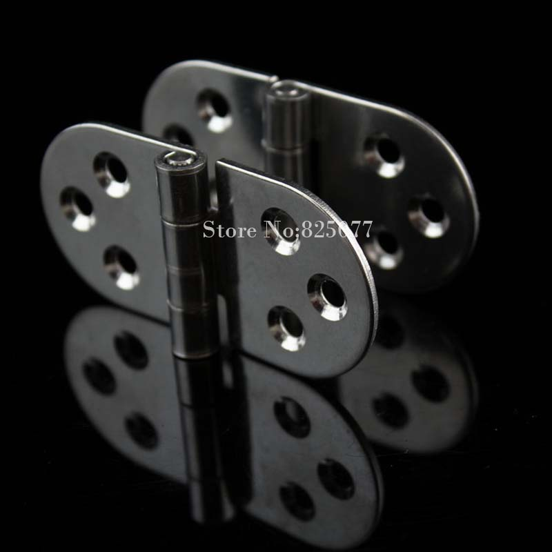 2pcs Authentic 304 Stainless Steel 2mm Thick Rounded Hinge 80*40*2mm Industrial Equipment Hinge HM171<br>