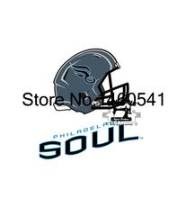 Philadelphia Soul Helmet Flag 3ft x 5ft Polyester Arena Football League AFL Banner Flying Size No.4 144* 96cm QingQing Flag(China)