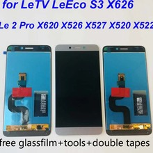 ORIGINAL Le2 X527 X520 X522 대 한 LeTV LeEco 르 2 디스플레이 LCD Touch Screen 대 한 LeEco S3 X626 LCD Display 르 2 Pro X620 X526 Gray(China)
