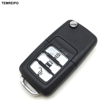 TEMREIPO 5pcs/lot replacement folding remote control key blank for chevrolet capativa flip car key cover case fob selling(China)