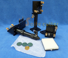 A set of CO2  Laser Head + Si Mirrors + ZNSE Lens Integrative Mounts