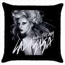 "Lady Gaga Born This Way Cushion Cover Pillow Cases Custom Gifts Cool Black Decorative Throw Pillows Sham Square 18"" Two Sides"