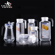 Glass Water Jugs Hot And Cold Water Duck Bill Pot Large Capacity Cold Water Bottle Teapot 500ml-1000(China)