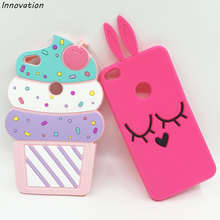 "For Fundas Huawei P9 Lite 2017 Case 3D Cartoon Rabbit Unicorn Cat Silicon Case Back Cover For Huawei P9 Lite (2017) 5.2"" Capas(China)"