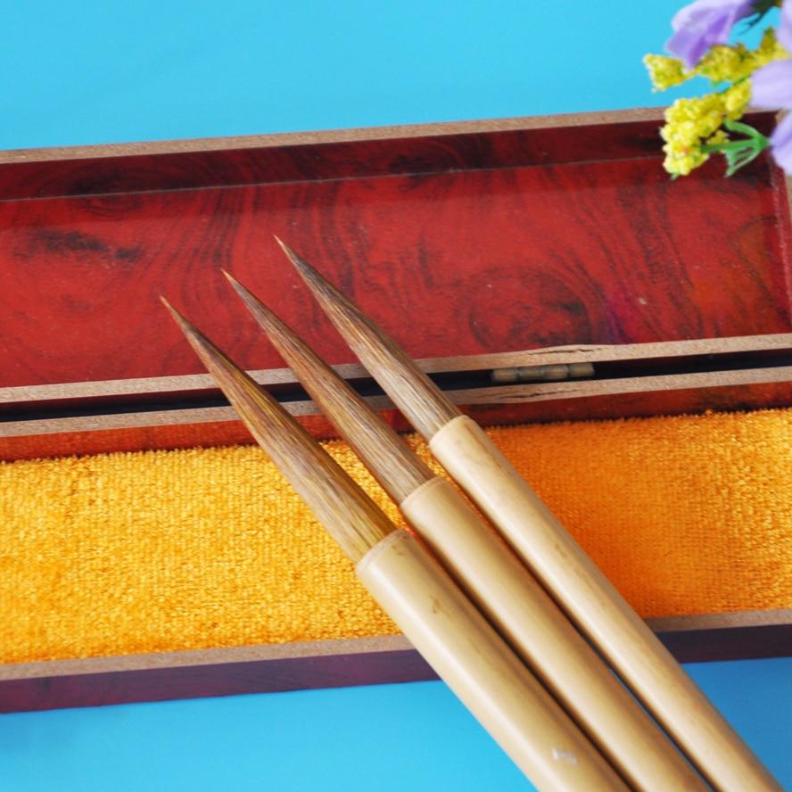3pcs/pack Chinese Pianiting Brush Pen Hopper-shaped Paint Brush Art Stationary Big Oil Painting Brush Calligraphy Pen<br>