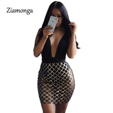 Ziamonga Alibaba Express Sexy Elegant Evening Party Bodycon Dress 2017 Hot Fashion See Through Sexy Dress Cheap Clothes China(China)