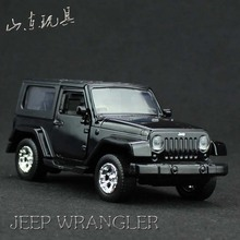 Collectable Die-cast Model Car 1/36 scale car carros de metal toys for children JEEP WRANGLER (No sound No light)(China)