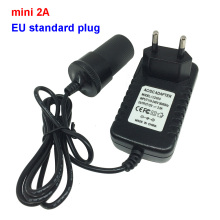 mini 2A EU standard plug 110/220V AC to DC 12V 24W Car cigarette lighter Switch Power Supply Charger Transformer Adapter Socket(China)