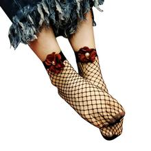 Buy KLV 2017 female Peony flower sweet hollow socks Women Sexy Lace Fishnet solid Top-Ankle Short Socks for $1.20 in AliExpress store