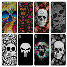 Skull flowers love Style Case Cover for Sony Ericsson Xperia X XZ XA XA1 M4 Aqua E4 E5 C4 C5 Z1 Z2 Z3 Z4 Z5(China)