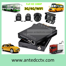 HD 1080P 3G WIFI 4CH Vehicle Surveillance Mobile DVR Monitoring System, SD card Security Video Recorder CCTV