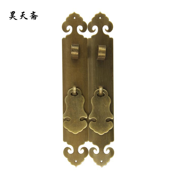 [Haotian vegetarian] Chinese antique Ming and Qing furniture handle copper door handle Classical handle HTC-292<br>