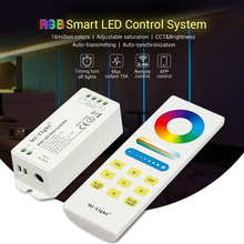 2.4G RF Mi Light RGBW RGB CCT Smart LED Remote Control System 15A Led Controller dimmer For 5050 3528 SMD Led strip light(China)