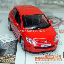 Brand New KT 1/32 Scale Car Model Toys France Peugeot 307 Diecast Metal Pull Back Car Toy For Gift/Kids/Collection
