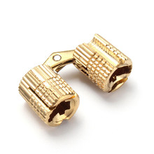 8mm 4pcs Brass Barrel Hinge Invisible Hinge Concealed Hinge For Caravan Worktops Solid And Durable(China)