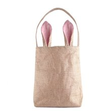 6 Colors Funny Design Easter Bunny Bag Rabbit Ears Bags Cotton Material Easter Burlap Celebration Gifts