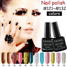 MDSKL Hot Sale 10ml/Bottle  UV Gel Nail Polish Color Nail Gel Polish Vernis Semi Permanent Nail   Primer Gel Varnishes 132 Color