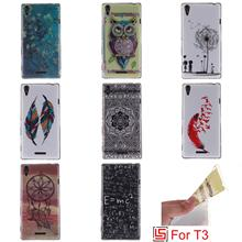 Ultra Thin TPU Silicone Soft Phone Case kryty coque shell Cover Bag Cove For Sony Xperia Experi T3 D5103 T 3 D5106 Dandelion(China)