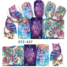 1 Sheet Colorful Nail Art Decals Sticker Charming Nail Water Transfer Stickers Fashion Design DIY Tip BESTZ437