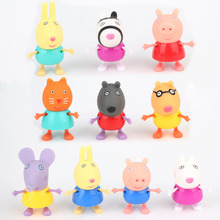 10pcs/set Pepa pink Pig PVC Toys Pepa George Pig Family 2017 Action Figure Toys For Kids Girls Baby Birthday model builiding