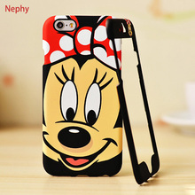 Nephy 360 Degree Case For iPhone 7 Plus Mickey Minnie Stitch Coque For iPhone 6 6S Plus 6Plus 6SPlus 7Plus Cover Hard PC Housing(China)