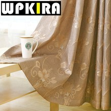 Classic American Curtain Panels Ready Luxury Curtain Jacquard Curtains Balcony Kitchen Door Beige Windows Blackout Curtains 30(China)