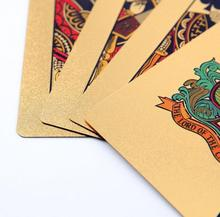 2017 Hot Selling 24K Carat Gold Foil Plated Poker Game Playing Cards(China)