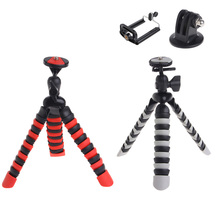 OOTDTY New 2 in 1 Flexible Mini Octopus Tripod Holder Stand Mount for Gorillapod for SLR DSLR GoPro Camera Phone(China)