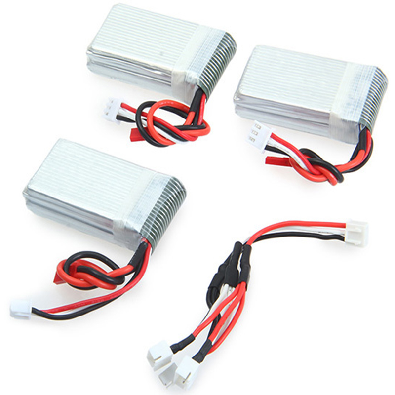 3pcs 7.4V 1000mAh Battery Remote Control Drone Model Spare Parts Accessories For WLtoys V912 V915 MJX X600 Set<br><br>Aliexpress