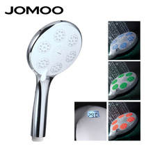 JOMOO Three Colors Change LED Hand Shower Handheld Shower Head led shower set Spray Temperature Digital Display ABS Showerhead