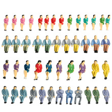 50Pcs Seated Male and Female People Model Painted Figures Train Passengers Model People Model Building Layout 1:50 Scale