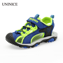 UNINICE 2017 Summer Children Shoes Anti-Slip Sole Sandals Casual Cut-Out Leather Beach Sandals Kids Sandals For Baby Boys Shoes