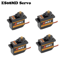 4pcs/lot EMAX ES08MD II Metal GEAR Digital Servo up sg90 ES08A ES08MA MG90S TREX 450