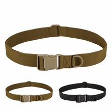 Men Outdoors Adjustable Tactical Combat Web Belt Buckle Waistband Military Rescue Rigger