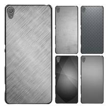 Simple Gray Pattern Style Case Cover for Sony Ericsson Xperia X XZ XA XA1 M4 Aqua E4 E5 C4 C5 Z1 Z2 Z3 Z4 Z5