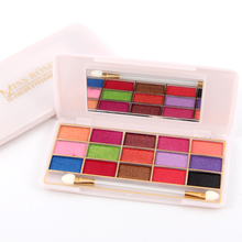 MISS ROSE 15-Color Luminous Wet Eye Shadow Easy to Wear Long-lasting Naked Maquiagem Hight Light Eyeshadow 7001-068I