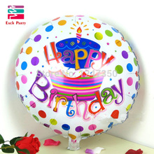 18 inch happy birthday cake foil balloons children birthday decoration globos Happy birthday party decoration supplies