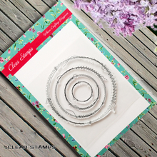 Four Circles Transparent Clear Rubber Stamp Seal Paper Craft Scrapbooking Decoration Clear Stamp Sheets.