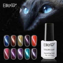 Elite99 1piece Soak Off Cat's Eye Gel Varnish UV Lamp Curing 3D Cat Eye Magnetic Nail Gel Polish Need UV Lamp Curing Hand Make(China)