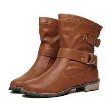 1 pair Women's Ladies Shoes Boots Ankle Boots Bota Riding Boots Casual Ladies Martin Boots