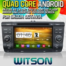 WITSON S160 CAR DVD for SKODA Octavia 2004-2011 GPS NAVIGATION Quad Core Android 4.4 capacitive Screen+16G Flash+PIP+DVR/WIFI/3G