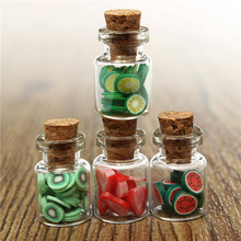 New Arrival 4pcs/Set 1:12 Dollhouse Miniature accessories DIY Various Mini Fruit Bottles Canned Unique design