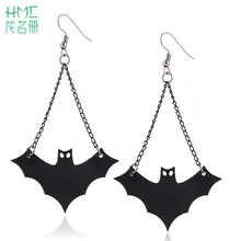 1pair 2017 New Personality Halloween Vintage Earrings Fashion Black Sexy Bats Earrings Accessories Jewelery For Woman Party Gift