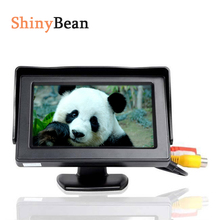 Mini HD Car Monitor Foldable Color Car Reverse Rearview Parking System 4.3 inch LCD Monitor for Car Rear view Camera(China)