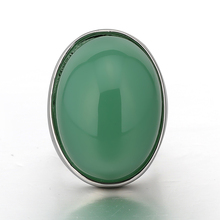 STOCK 2017 high quality new fashion elegant big natural stone ring for women free samples OSR015