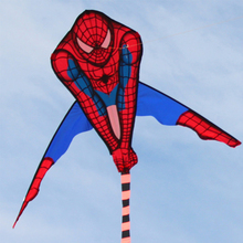 Cartoon 53 Inch Spiderman Kite Single Line Outdoor Sports Toys Fun Kites Toy For Children kids With Flying Line
