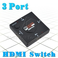 2017 Mini 3 Port HDMI Switch Switcher Splitter 3 input 1 Output Box HDMI Selector for XOBX 360 for PS3 for PS4 Smart HDTV 1080P